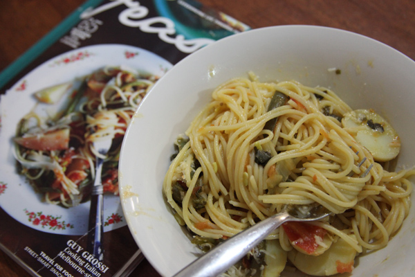 Spaghettiwithbeansandspuds