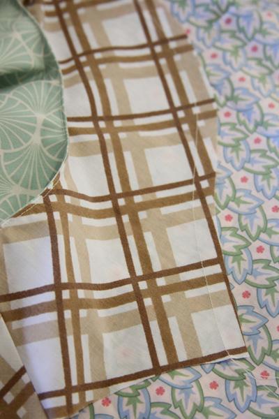 Sewn-fold-line