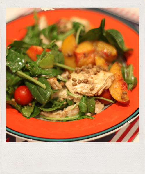 Nectarine+chicken-salad