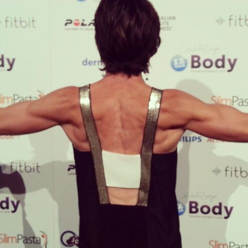 woman with ripped back muscles